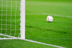 Soccer goal detail Royalty Free Stock Photo