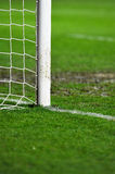 Soccer goal detail on rainy day Stock Photography