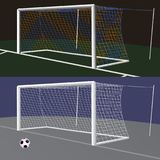 Soccer goal with net. Stock Images