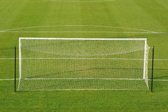 Soccer goal on field Royalty Free Stock Images