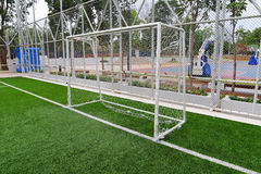 Soccer goal on field Stock Photography