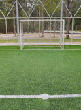 Soccer goal on field Royalty Free Stock Photo