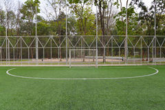 Soccer goal on field Royalty Free Stock Photography