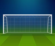 Soccer Goal, Football goalpost with net on a stadium background. Soccer Goal, Football goalpost with net on a game stadium background. Sport playground. Vector vector illustration