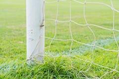 Soccer goal football green grass field. Soccer goal football  on green grass field Royalty Free Stock Photography
