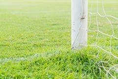 Soccer goal football green grass field. Soccer goal football  on green grass field Royalty Free Stock Photo