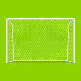 Soccer goal front view Royalty Free Stock Photography