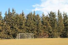 Soccer goal in full nature. stock image