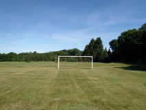 Soccer Goal in a grass field Stock Photo