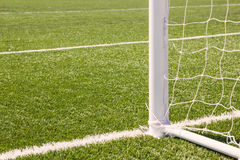Soccer goal with grass field. Soccer goal with grass field background Stock Photos