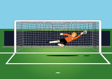 Soccer goal keeper Stock Photo