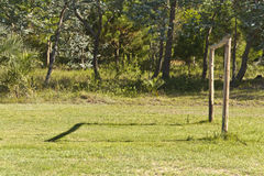 Soccer goal made with wood. More options in my profile Royalty Free Stock Photography