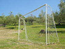 Soccer Goal meadow Royalty Free Stock Photography