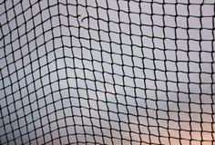 Soccer goal net. Against purple sky Royalty Free Stock Image