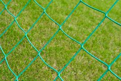 Soccer goal net Stock Photos