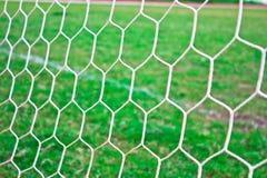 Soccer goal net. In stadium Stock Photo
