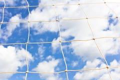 Soccer goal net. On  blue sky Royalty Free Stock Image