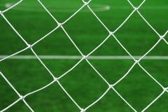 Soccer goal net. Look through soccer goal net Royalty Free Stock Photography
