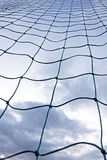 Soccer goal net. Seen from a very low angle Stock Photography