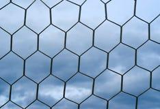 Soccer goal net. Against the sky Stock Image