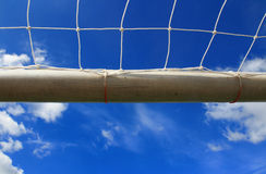 Soccer goal with net Stock Photography