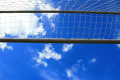 Soccer goal with net Royalty Free Stock Photography