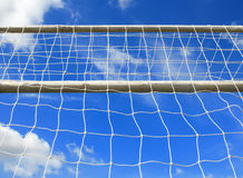 Soccer goal with net Royalty Free Stock Photos