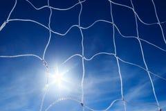 Soccer goal net. On blue sky Stock Images