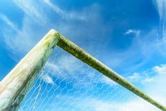 Soccer goal net. On blue sky Stock Photos