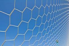 Soccer goal net. On blue sky Royalty Free Stock Photo