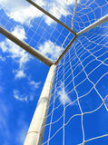 Soccer goal with net Royalty Free Stock Photo