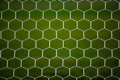Soccer goal net. With green background Royalty Free Stock Images