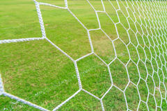 Soccer Goal Net. With Green Grass Background stock photos