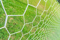 Soccer Goal Net. With Green Grass Background Stock Image