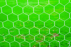 Soccer goal net pattern Stock Photo