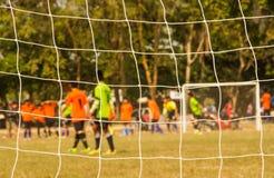 Soccer goal net Royalty Free Stock Image