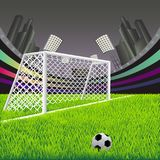 Soccer goal with net. Royalty Free Stock Photography