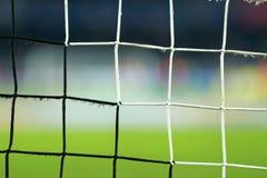 Soccer goal net. In a stadium Stock Photography