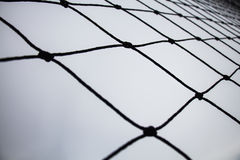 Soccer goal nets Stock Images