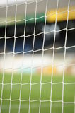 Soccer goal netting. A background of a soccer goal or net at a field Stock Images