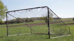 Soccer goal stock footage