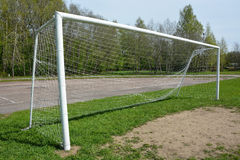 Soccer goal outdoor Royalty Free Stock Images