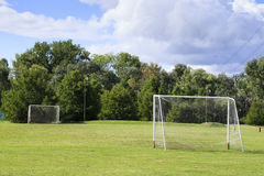 Soccer goal posts Royalty Free Stock Photos