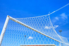 Soccer Goal. Ready for Match Royalty Free Stock Images