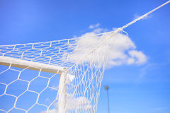 Soccer Goal. Ready for Match Stock Image