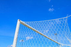 Soccer Goal. Ready for Match Stock Photos