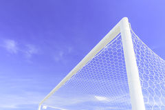 Soccer Goal. Ready for Match Stock Images