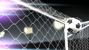 Soccer goal scored, champion, success, sport. stock footage