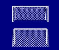 Soccer goal from side. royalty free stock image