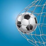 Soccer Goal. A soccer ball in a net. Vector illustration Stock Photo